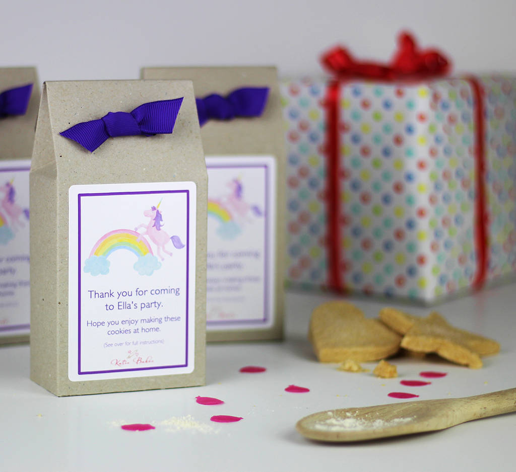 Personalised Unicorn Shortbread Mix Party Bags