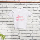 Personalised Sister Cotton T-Shirt Set