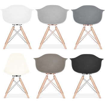 Copper Grey Or White Scandinavian Dining Arm Chair