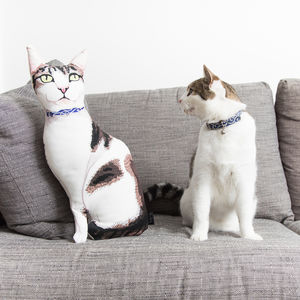 Custom Cat Portrait Pillow - new in home