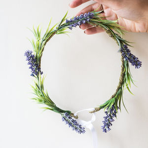 Faux Lavender Floral Crown