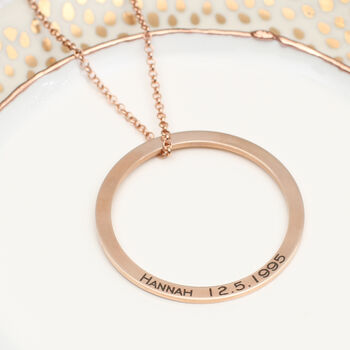 18ct Gold Or Sterling Silver Circle Of Life Necklace