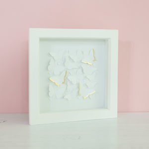 Papercut Butterflies With Gold Leaf