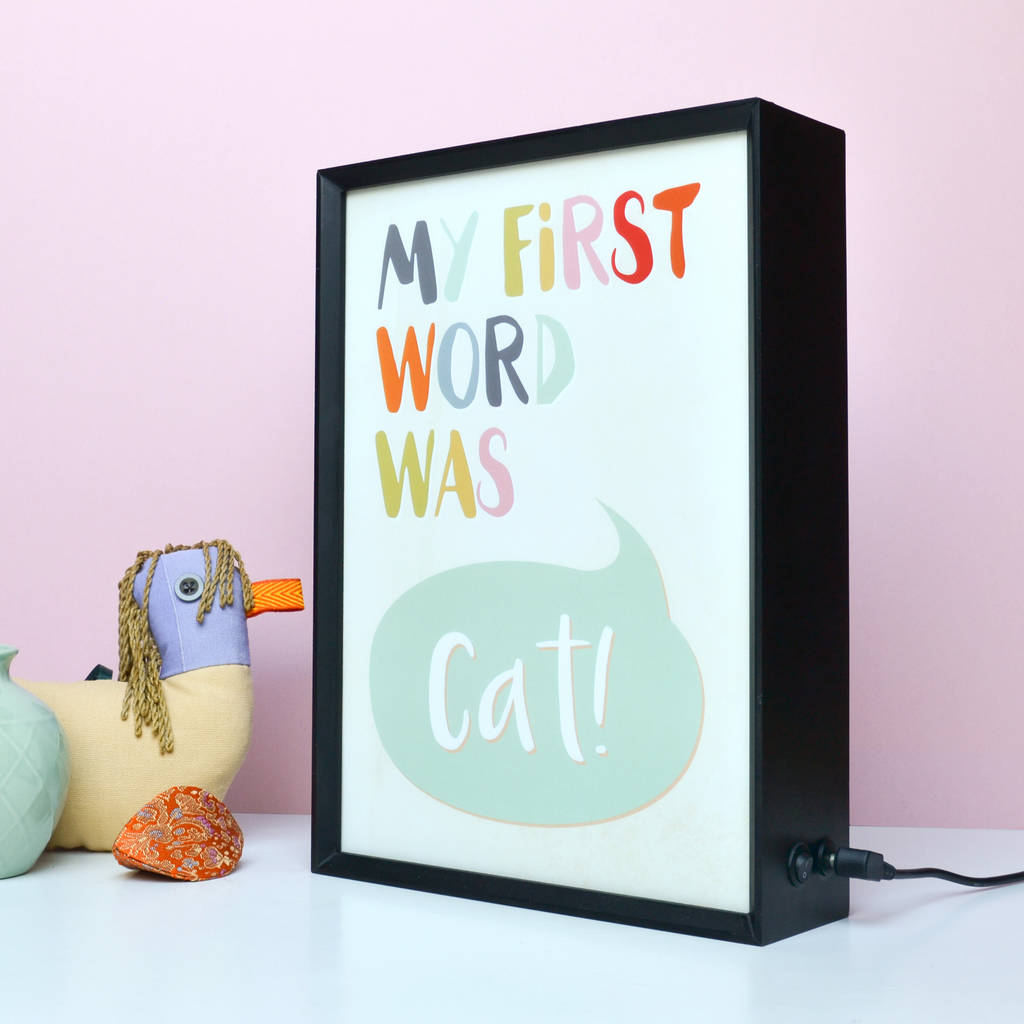 Personalised 'My First Word' Light Box