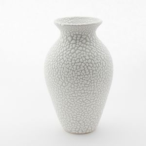 Stoneware Vase In Textured White And Grey Bead Glaze - flowers, plants & vases