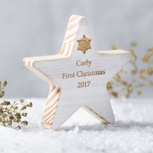 Personalised Baby's First Christmas Star Keepsake
