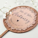 Rose Gold Wooden Wedding Cake Topper