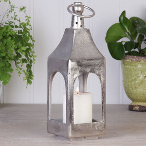 Silver Finish Brass Alloy Lantern - christmas lighting