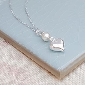 Handmade Sterling Silver Heart Pendant - wedding jewellery