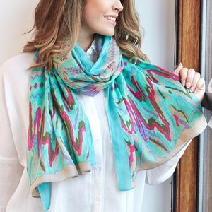 Personalised Birds Of Paradise Scarf - personalised gifts for her