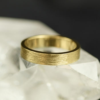 5mm Flat Profile 18ct Gold 'Clough' Wedding Ring