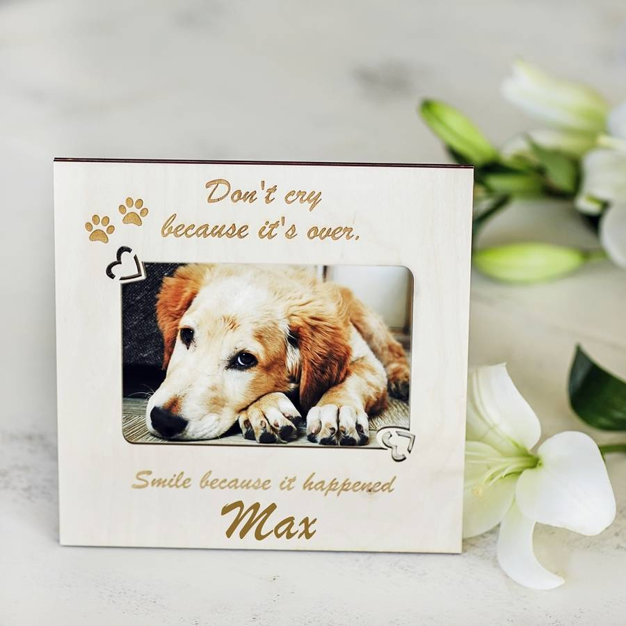 pet memorial personalised photo frame by natural gift store ...
