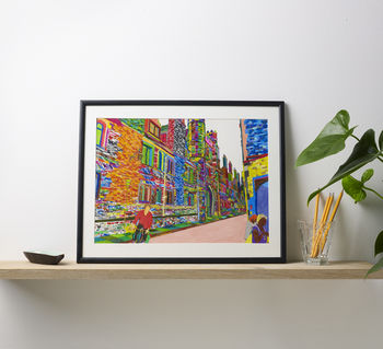 Trinity College Cambridge Multicoloured Print