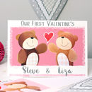 Personalised Bear First Valentine's Card