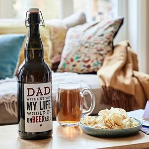 Personalised Dad's Four Pint Magnum Of Beer