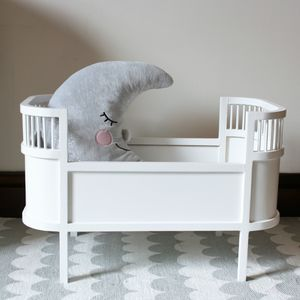 Handmade Scandinavian Wooden Dolls Bed