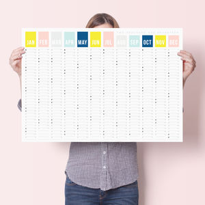 2017 Colour Year Wall Planner - diaries sale