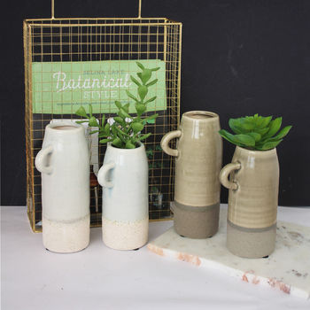 Crackled Glaze Ceramic Jug Vases
