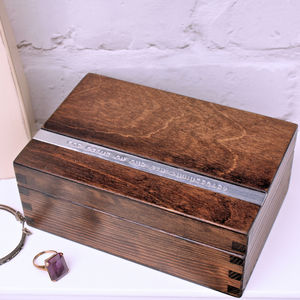 Personalised Wooden Anniversary Keepsake Box - jewellery storage & trinket boxes