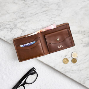 Personalised Leather Wallet With Coin Section - 21st birthday gifts