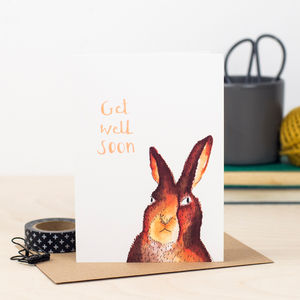 'Get Well Soon' Hare Card