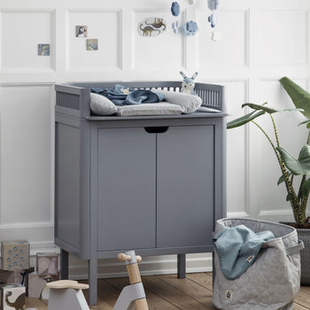 Dark Grey Two In One Changing Unit