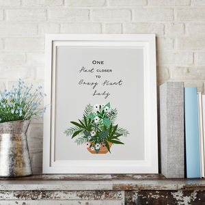 Plant Lovers Quote Print