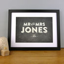 Personalised Wedding Mr And Mrs Print