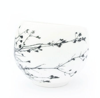 Espresso Cup Or Teacup Decorated With Winter Twig
