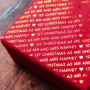 1st Christmas Mr And Mrs Harvey *Personalised* Giftwrap