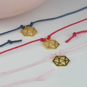 Gold Plated Hexagon Wish Bracelet - bracelets & bangles