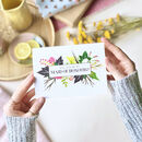 Will You Be My Maid Of Honour White Floral Card