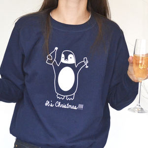 Drunk Penguin Personalised Christmas Jumper - personalised gifts