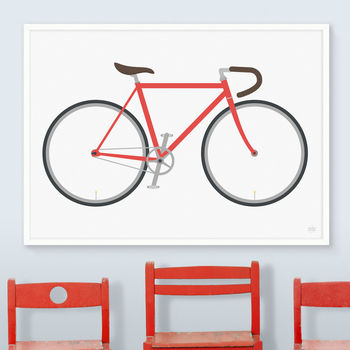 Bicycle Print Many Colours
