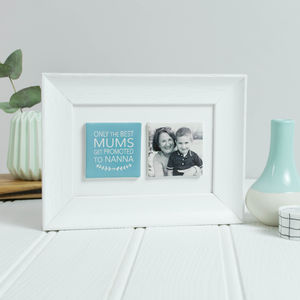 Framed Grandma Ceramic Tile Photo Gift - personalised