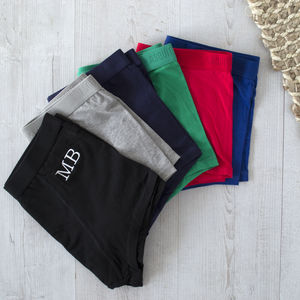 Underwear Subscription With Embroidered Monogram
