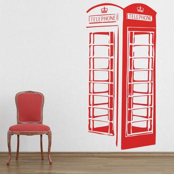 London Telephone Box Wall Stickers