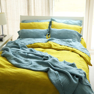 Stone Washed Bed Linen Duvet - bed, bath & table linen