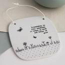 'Friendship Is Like Sunshine' Hanging Tile