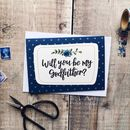 Will You Be My Godfather? Card