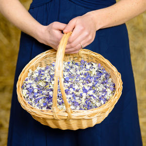 Confetti Basket With Natural Petal Confetti