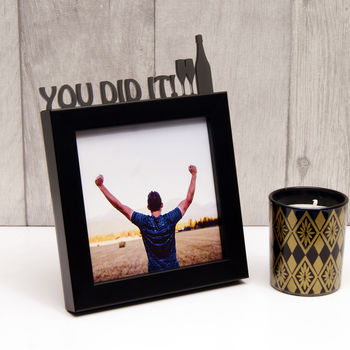 'You Did It!' Celebration Frame in Black