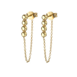 Vincent Chain Back Earrings - earrings