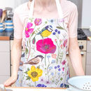 Garden Birds And Floral Baking Apron