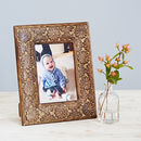 Asali Carved Mango Wood Photo Frame