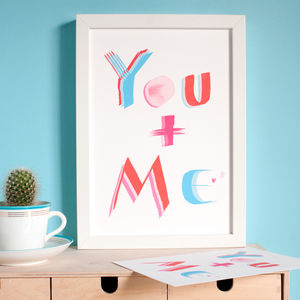 Friendship Print You And Me - posters & prints