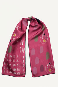 Sketch Silk Scarf - womens