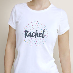 Personalised Name Confetti T Shirt - tops & t-shirts