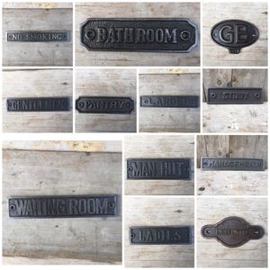 Cast Iron Wall Door Plaques Signs - home accessories