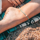 Bora Freshwater Pearl Surf Handwoven Anklet